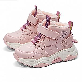 降温保暖、多款可选:巴布豆 中大童 加绒加厚 保暖运动鞋