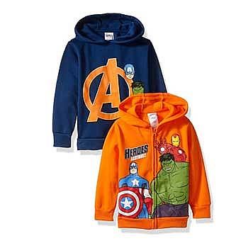 美亚一日闪购!Marvel漫威 官方儿童连帽衫 2件装