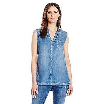 Calvin Klein Jeans 女士无袖牛仔上衣