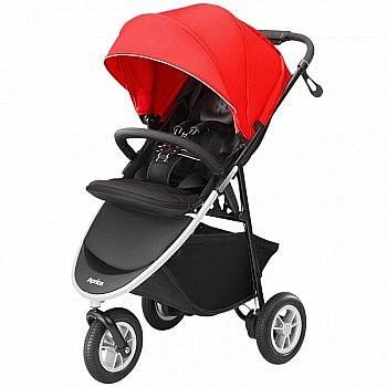 PLUS会员:Aprica 阿普丽佳 Smooove 高景观三轮婴儿推车 红色