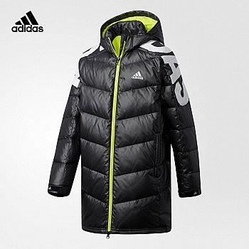 双11预售、两色可选: adidas 阿迪达斯 儿童长款羽绒服外套 BP6209