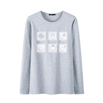 天猫森马 男士图案印花长袖T恤