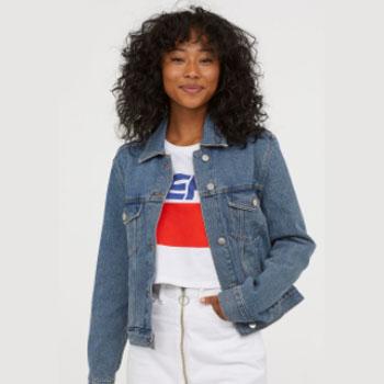 天猫双11预告:H&M DIVIDED女装新款牛仔外套夹克
